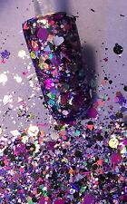 glitter mix acrylic gel nail art        DESIRE   Limited Edition