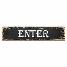 SP0816 ENTER Street Sign Restaurant Bar Store Shop Cafe Home Chic Decor