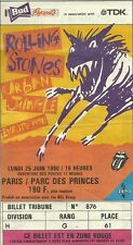 RARE / TICKET DE CONCERT - THE ROLLING STONES LIVE A PARIS FRANCE JUIN 1990