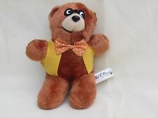 Vintage Ted E Bear and Friends Brown 7in. Plush Teddy School Bear Eyeglasses