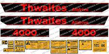 THWAITES ALLDRIVE 4000 2 TONNE KIPPER-AUFKLEBER-AUFKLEBER-SATZ