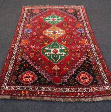 Orient Teppich Rot Grün 168 x 113 cm Perserteppich Handgeknüpft Red Green Carpet