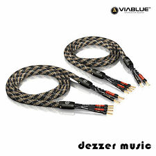 ViaBlue 2x 1,50m SC-4 Bi-Wire Crimped HIGH END Lautsprecherkabel Ader/ 1,5...TOP