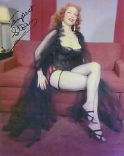 Tempest Storm Signed 8x10 Photo - Teaserama - Stripper / Burlesque Dancer - G689
