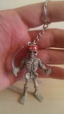 Brand New Skeleton Soldier keyring - Skeleton Pirate key chain - UK SELLER
