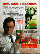 BRIDE OF RE-ANIMATOR__Orig. 1991 Trade AD promo__KATHLEEN KINMONT_FABIANA UDENIO