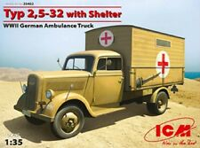 ICM 1/35 Typ 2,5-32 with Shelter, WWII German Ambulance Truck model kit #35402