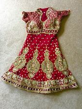 Asian/Indian Wedding & Party Dress/ Suit/ Salwaar Kameez-Bridal Maroon / Red.
