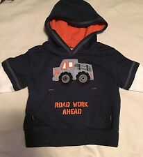 Gymboree Construction Ahead Boys Size 3-6 Months Hoodie Sweatshirt