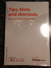 LG Chocolate 3 Verizon Wireless Tips, Hints and Shortcuts manual book sealed new