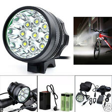 20000LM 9 x CREE XM-L T6 LED 8 x 18650 Bicycle Cycling Light Waterproof Lamp NEW