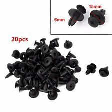20pcs Car Bumper Fender Hole Black Plastic Rivets Fasteners Clip For Toyota RAV4