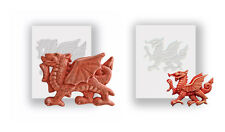 Silicone Moulds - Small And Large Welsh Dragons -- Flat Backed - Food Safe