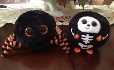 Ty Beanie Boos Halloween Black And Orange Crawly The Spider New And Spooky Used