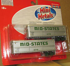 HO - Classic Metal Works - CMW - Mini Metals # 31105 - MID-STATES - 2 Trailers