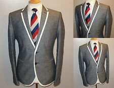 NEW BLUE SLIM 42 R BOATING REGATTA ROWING COLLEGE BLAZER SUIT JACKET SPORT COAT
