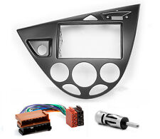 CARAV 11-548-9-6 Autoradio Radioblende Set für FORD Focus 2-DIN schwarz