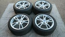 "PORSCHE OEM FACTORY 911-997 18"" CARRERA IV WHEELS TIRES AND CENTER CAP SET"