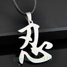 Chinese word Ninja Pendant Stainless Steel Necklace ST77