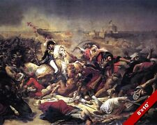 BATTLE OF ABUKIR PAINTING FRENCH CONQUEST NAPOLEON WAR ART REAL CANVASPRINT