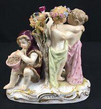 Rare Antique 19th Century German Meissen Porcelain Four Season Figural Group