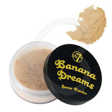 W7 Banana Dreams Loose Face Powder 20g Yellow Highlighter Correcter Enhancer