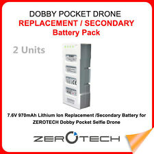 Authorized ZeroTech - Replacement Battery for DOBBY DB16-100 US Warranty (2 Lot)