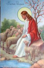 1955 BUONA PASQUA Gesù Pastore con gregge di pecore --- ediz.SAEMEE S/216