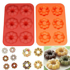 Silicon Chocolate Donut Cake Candy Jelly Ice Mold Mould Bakeware Pan LD362