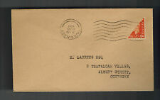 1941 Guernsey Occupied Channel Islands England Cover Bi Sect Stamp Local Use