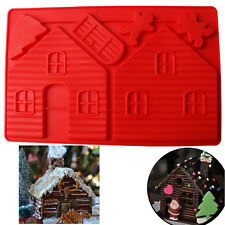 3D Christmas House Cake Mold Chocolate Baking Mould Pudding Jelly DIY Decor Tool