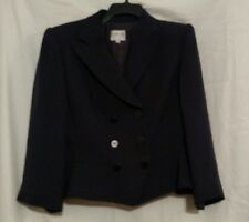 ARMANI navy blazer, peplum, double breasted, 12, euc