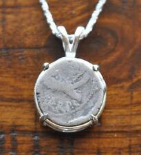Mark Antony Roman Republic Legionary Denarius Coin 925 Sterling Silver Necklace