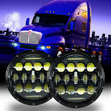 LED Headlights For Kenworth T2000 T-2000 1998-2010 Tractor Trailer Truck Lamps