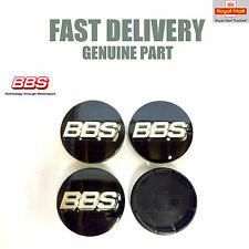 Genuine BBS Centre Caps Black with 3D Silver BBS Logo 56mm LM RX CH SR NEW