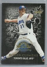 1998 Leaf Fractal Materials - ROGER CLEMENS  Sample Promo Leather Gold Leaf Star