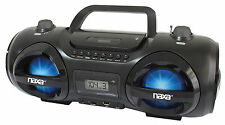 NAXA MP3 CD PLAYER USB STICK SD CARD AM.FM RADIO BOOMBOX AUX-IN AD/CD BATTERY