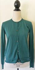 MARNI 100% Cashmere Made in Italy Green Cardigan Sweater Size IT 40  US M
