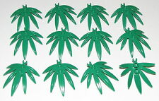 LEGO LOT OF 12 NEW GREEN 6 X 5 LEAVES SWORDLEAF PLANT PIECES