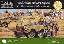 15mm GERMAN SDKFZ 231 ARMOURED CAR  - PLASTIC SOLDIER COMPANY - WW2V15031