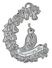 Waterford 2011 Silver *PARTRIDGE ORNAMENT *  NEW / Boxed