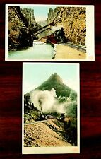 C.S.& C.C.SHORT LINE STEAM ENGINES COLORADO CO 2 Postcards 1907