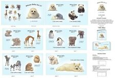 1 Yard Quilt Cotton Fabric- ES Animal Friends Whose Baby Am I Book Panel