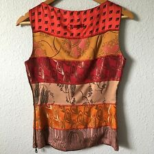 Women's Designer Jean Paul Gaultier Femme Asian Silk Top Boho Designer Small