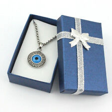 Turkish Evil Eye 316L Stainless Steel Necklace Pendant Charm Nazar Men Women