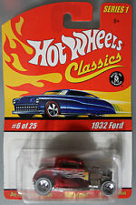Hot Wheels 1:64 Scale HW Classics Series 1932 FORD (RED)
