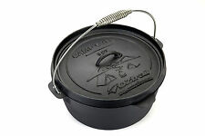 OZtrail 2 Quart (1.8L) Cast Iron Camp Oven Camping Cooking Open Fire
