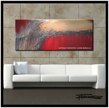 ABSTRACT CANVAS PAINTING Large WALL ART 60 in Listed by Artist, Signed ELOISExxx