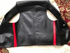Men's Red Striped Sides Leather Bar Vest Gay Interest Size Large 40 Chest Sexy