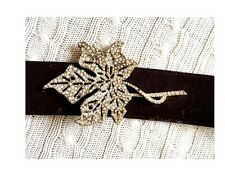 VALENTINO Fall Leaf Swarovski Suede Belt (retail £650)